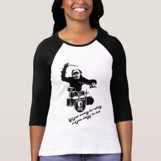 drum monkey crazyape T-Shirt