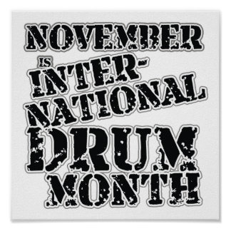 Drum Month Poster