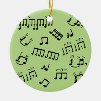 Drum Notes Ornament  for Drummer Customisable Text