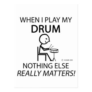 Drum Nothing Else Matters Post Card