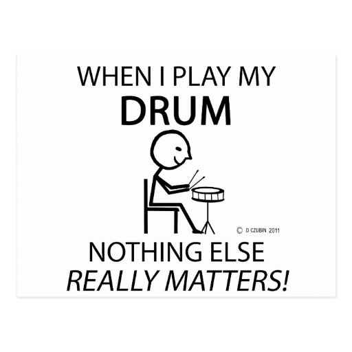 Drum Nothing Else Matters Post Cards