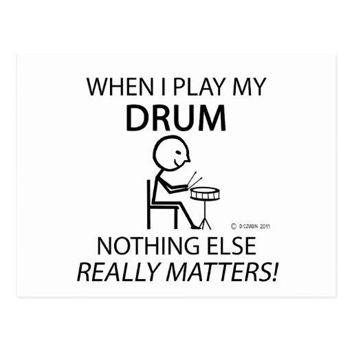 Drum Nothing Else Matters Postcards