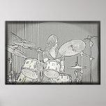 Drum or Drummer Girl Poster