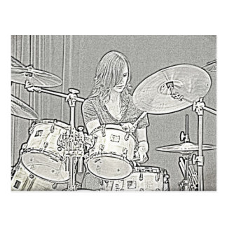 Drum or Drummer Postcard
