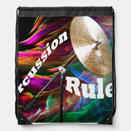 Drum Percussion Tote Bag ADD YOUR TEXT Drawstring Bag