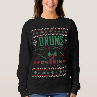 Drum Player Ugly Christmas Sweater