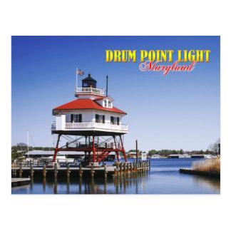 Drum Point lighthouse, Maryland Postcard