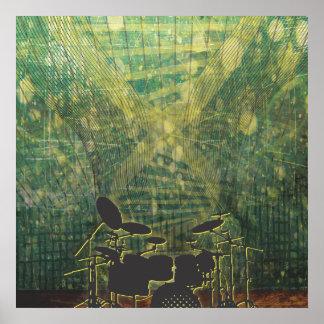 drum poster grunge-1b