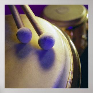 Drum & Round Tip Drum Sticks Poster