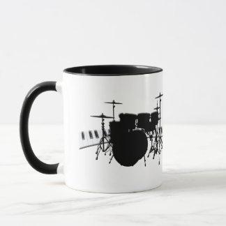 Drum Set and Piano Keyboard Mug