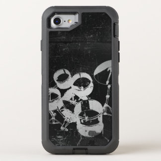 Drum Set for Drummers / Cool Grunge Style OtterBox Defender iPhone 8/7 Case