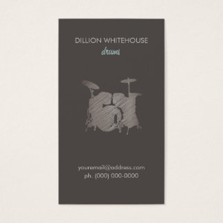 Drum Set Groupon Business Card
