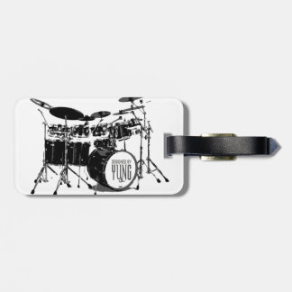 Drum Set Luggage Tag