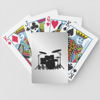 Drum Set Music Design Bicycle Playing Cards