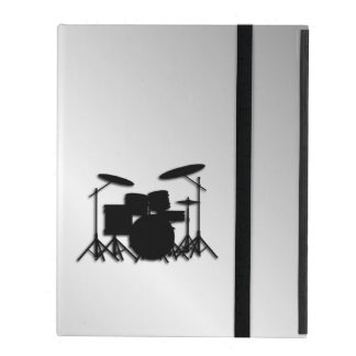Drum Set Music Design iPad Folio Case