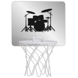 Drum Set Music Design Mini Basketball Hoop