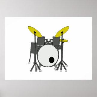 Drum Set Posters