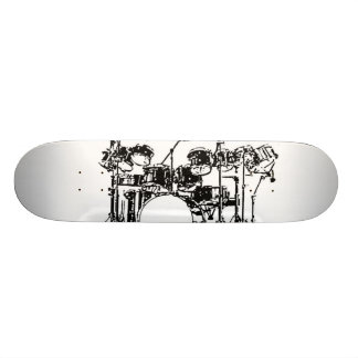 Drum Set Skateboard Deck