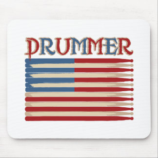 Drum Stick USA Flag Drummer Tees and Gifts Mouse Pad