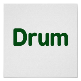 drum text green music design poster