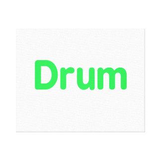 drum text mint music design stretched canvas prints