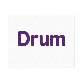 drum text purple music design stretched canvas prints