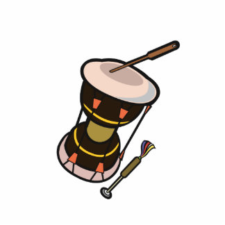 drum two headed hand drum dark turned.png photo cutout