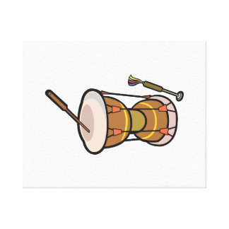 drum two headed hand drum.png gallery wrapped canvas