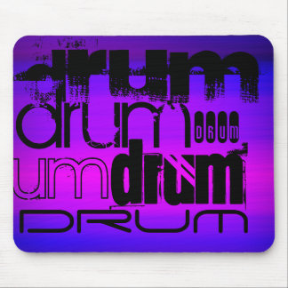 Drum; Vibrant Violet Blue and Magenta Mouse Pad