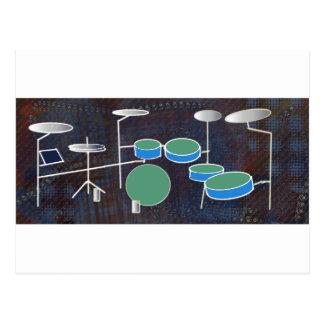 Drum World Postcard