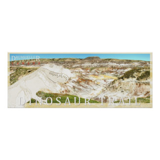 Drumheller Badlands Dinosaur Trail Photo Poster