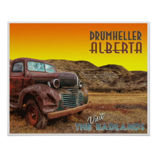 "Drumheller ""The Badlands"" Vintage Travel Poster"