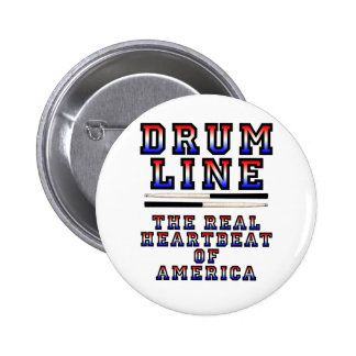 Drumline Heart Beat 2 Inch Round Button