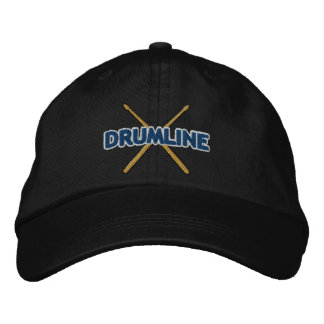 Drumline Sticks Crossed Embroidered Hat