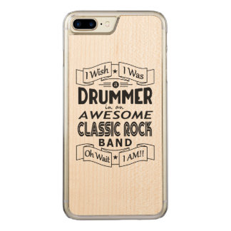 DRUMMER awesome classic rock band (blk) Carved iPhone 8 Plus/7 Plus Case
