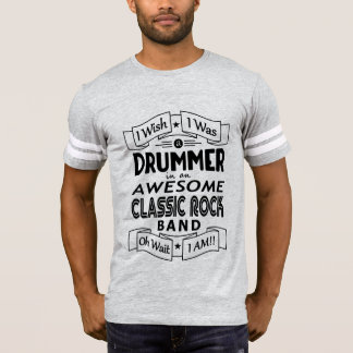 DRUMMER awesome classic rock band (blk) T-Shirt