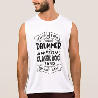 DRUMMER awesome classic rock band (blk) Tank Top