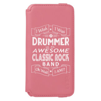 DRUMMER awesome classic rock band (wht) Incipio Watson™ iPhone 6 Wallet Case