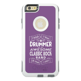 DRUMMER awesome classic rock band (wht) OtterBox iPhone 6/6s Plus Case