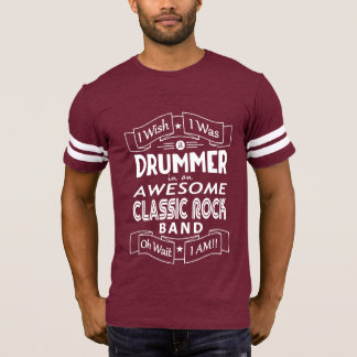 DRUMMER awesome classic rock band (wht) T-Shirt