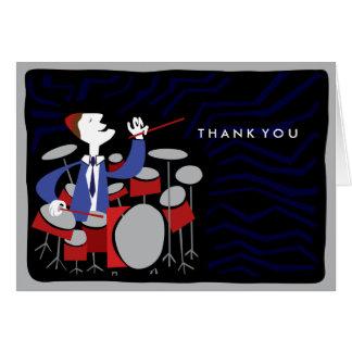 DRUMMER Bar Bat Mitzvah Thank-You Card