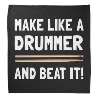 Drummer Beat It Bandana