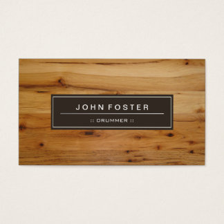 Drummer - Border Wood Grain Business Card