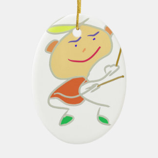 Drummer Boy Ceramic Ornament