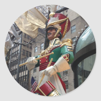 Drummer Boy NYC Decorations Christmas Stickers