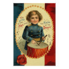 Drummer Boy Star Red White Blue Poster