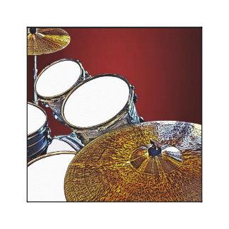 Drummer Canvas Drum Kit with Crash Square Art