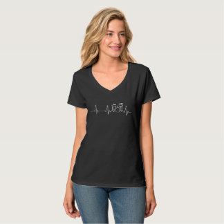 Drummer Chick Heartbeat T-Shirt