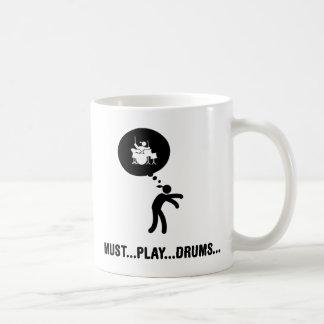 Drummer Classic White Coffee Mug
