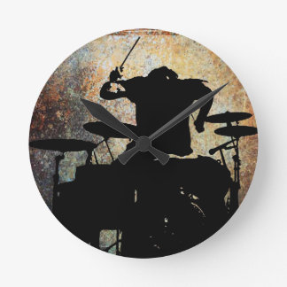 Drummer clock, Copyright Karen J Williams Round Clock